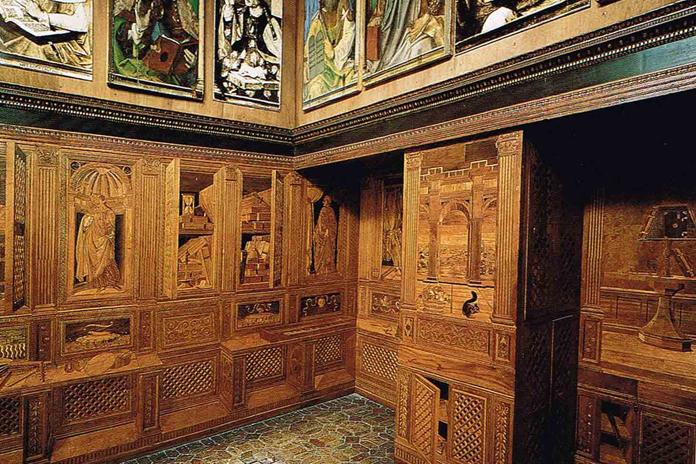 Studiolo Federico da Montefeltro palazzo Ducale